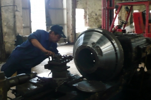 MACHINING THE CONE OF THE COOLING SYSTEM OF THE BHP STEEL AUSTRALIA