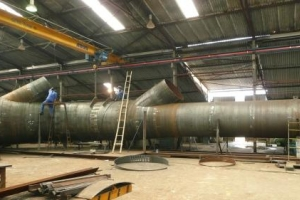 DEDUSTING DUCTWORK OF CAST HOUSE BHP STEEL AUSTRALIA